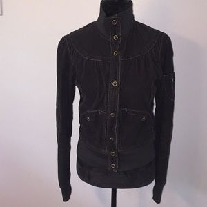 Mossimo black corduroy with gold accents